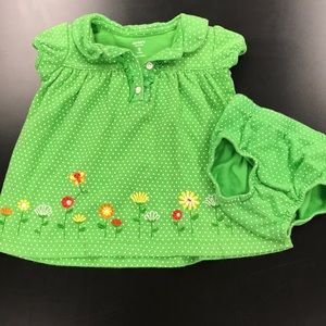 Carter's dress with diaper cover